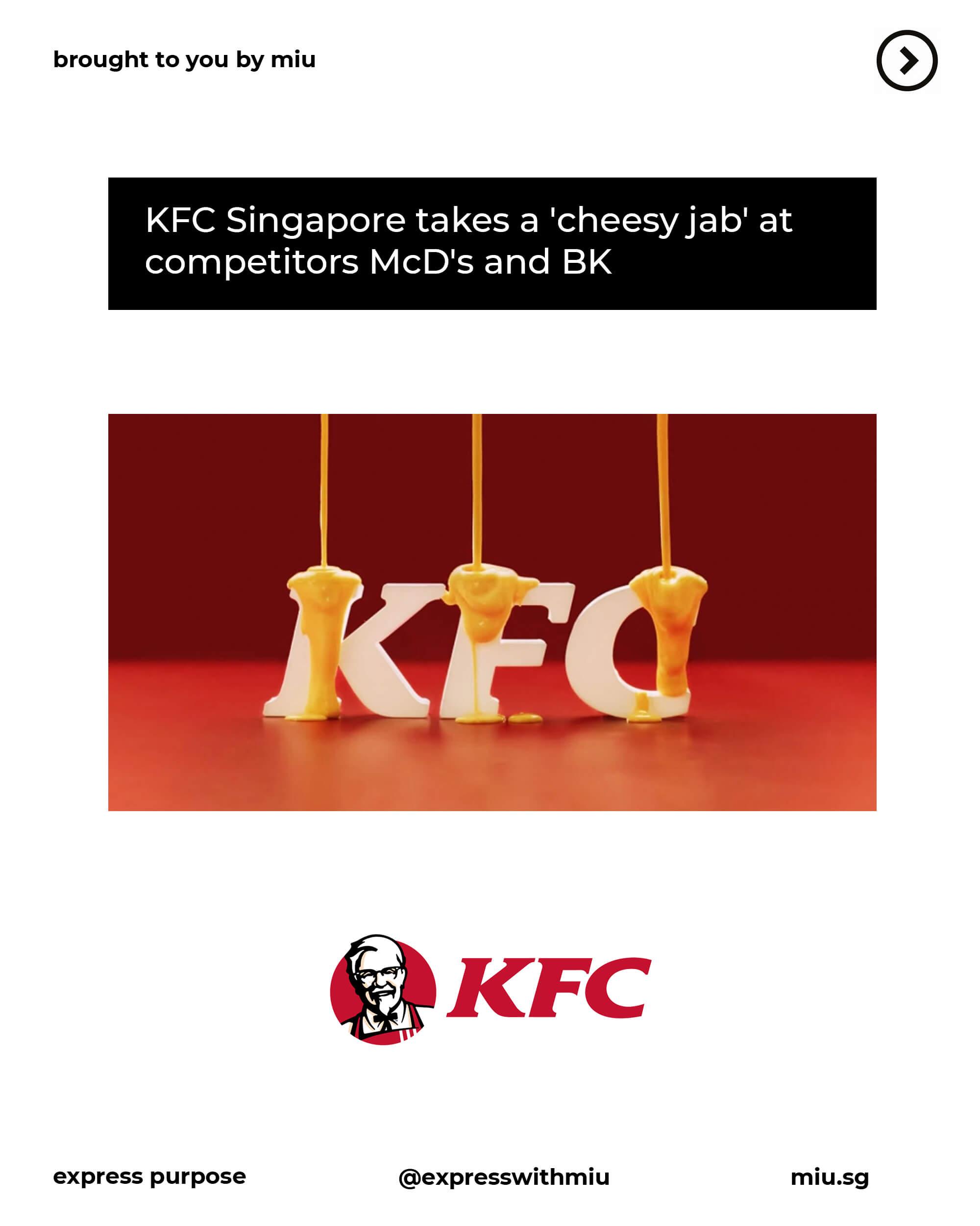 KFC's Cheese Makes Everything Taste Better